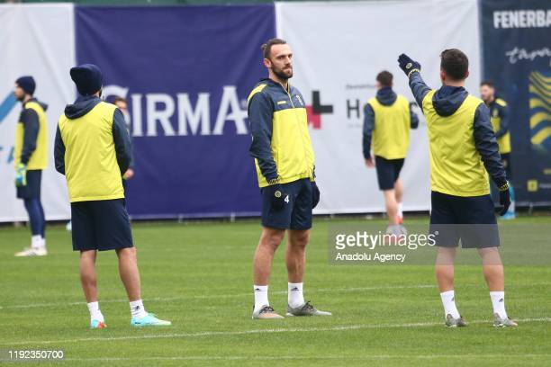 Vedat Muriqi of Fenerbahce attends a training session within the team's midseason training camp as part of secondhalf preparations for Turkish Super...