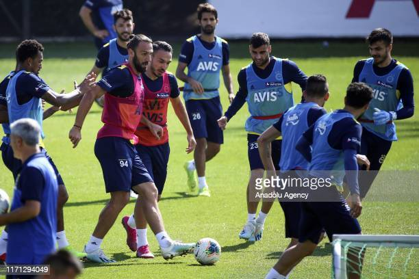 Vedat Muriqi of Fenerbahce attends the training session of Fenerbahce within the preparations of the Turkish Super Lig soccer match between...