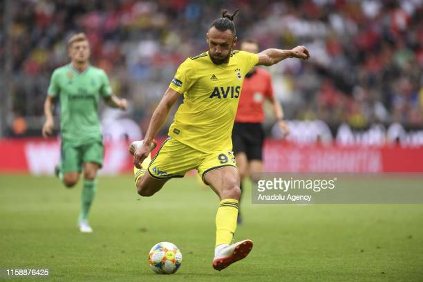 Vedat Muriqi of Fenerbahce in action during the Audi Cup soccer match between Real Madrid and Fenerbahce Istanbul at the Allianz Arena in Munich...