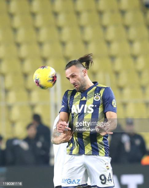 Vedat Muriqi of Fenerbahce in action during Turkish Super Lig soccer match between Fenerbahce and Besiktas in Istanbul Turkey on December 22 2019