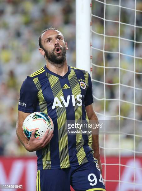 Vedat Muriqi of Fenerbahce is seen during the Turkish Super Lig week 32 soccer match between Fenerbahce and Demir Grup Sivasspor, in Istanbul, Turkey...