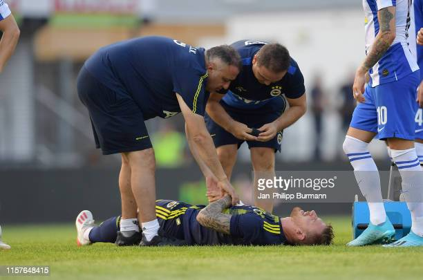 Vedat Muriqi of Fenerbahce Istanbul during the match between Hertha BSC and Fenerbahce Istanbul on July 25 2019 at the Profertil Arena Hartberg in...