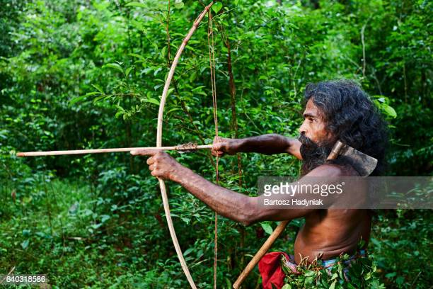 Vedda people - forest people hunting on Sri Lanka