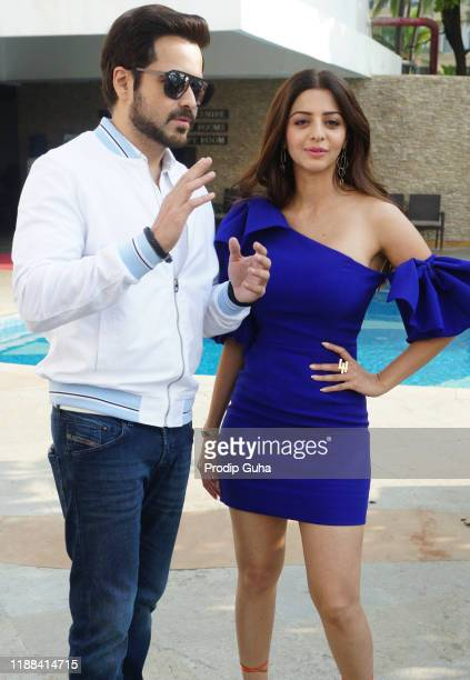 Vedhika Kumar and Emraan Hashmi attend the 'The Body film photocall on November 18 2019 in Mumbai India