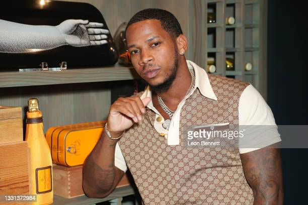 """Vedo attends a press meet & greet for the premiere of his new single, """"Yesterday"""" on July 29, 2021 in Hollywood, California."""
