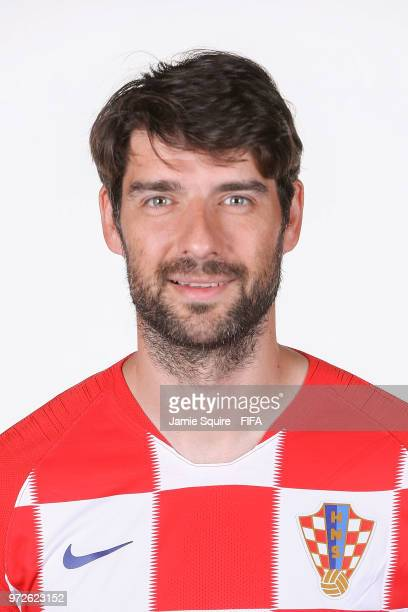 Vedran Corluka of Croatia poses during the official FIFA World Cup 2018 portrait session at on June 12, 2018 in Saint Petersburg, Russia.