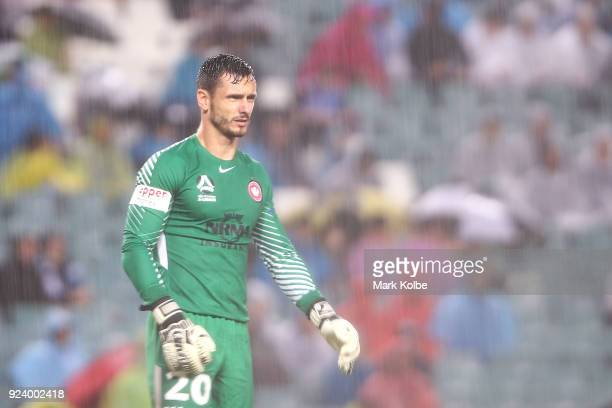Vedran Janjetovic of the Wanderers watches on during the round 21 ALeague match between Sydney FC and the Western Sydney Wanderers at Allianz Stadium...