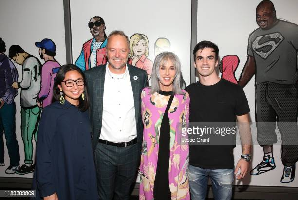 Veena Sangkhae Steve Brown Michelle Rappaprt and Emile Rappaport attend the Sneakertopia Los Angeles VIP Preview at HHLA on October 24 2019 in Los...
