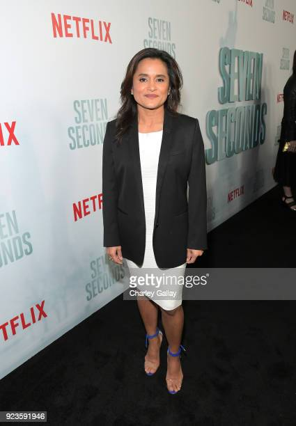 Veena Sud attends Netflix's 'Seven Seconds' Premiere screening and postreception in Beverly Hills CA on February 23 2018 in Beverly Hills California