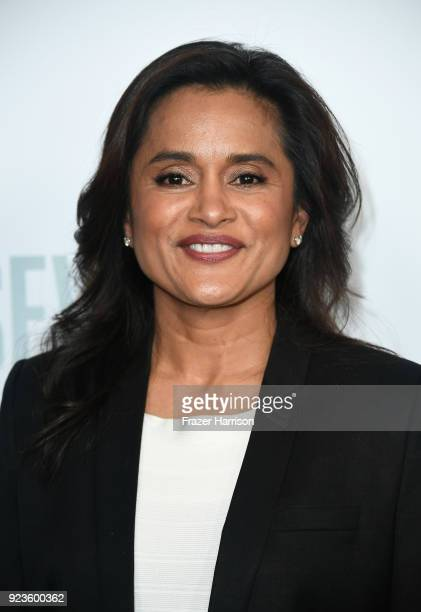 Veena Sud attends the premiere of Netflix's 'Seven Seconds' at The Paley Center for Media on February 23 2018 in Beverly Hills California