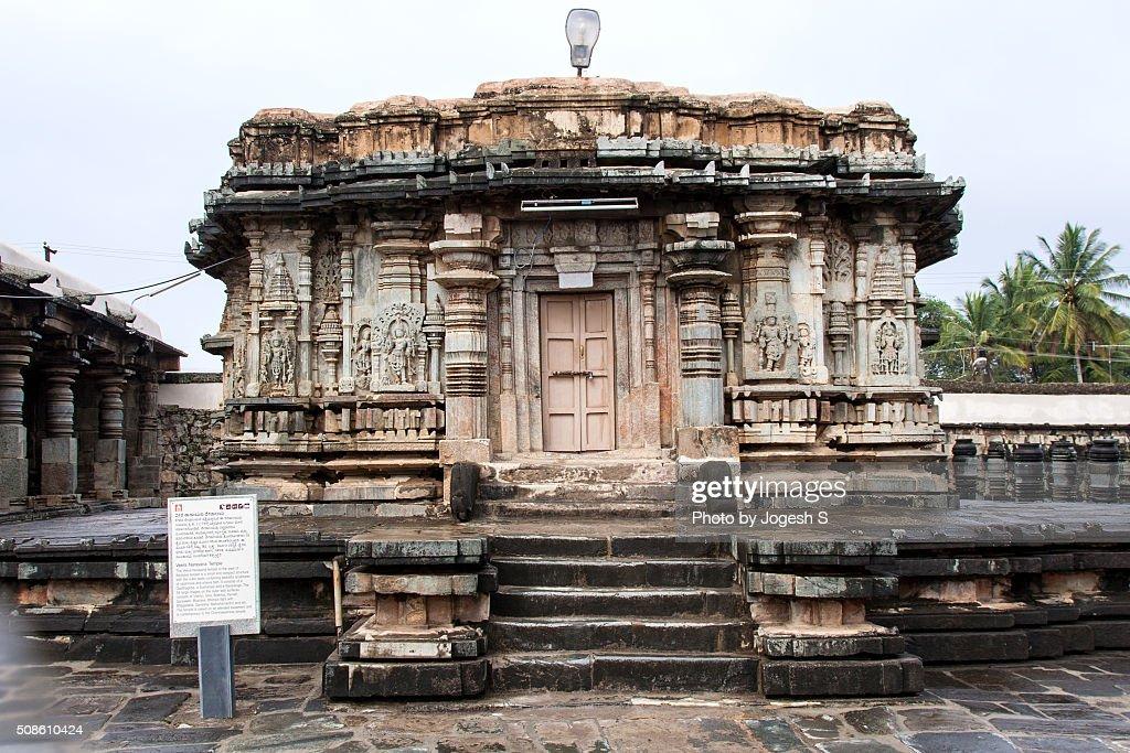 Veera Narayana temple Belur : Stock Photo