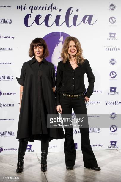Vega and Christina Rosenvinge attend 'Mi Querida Cecilia' photocall at Palacio Municipal de Congresos on November 9 2017 in Madrid Spain