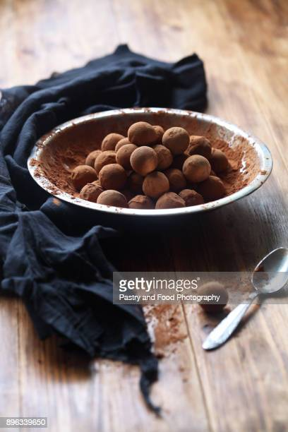 Vegan Chocolate Glazed Truffles