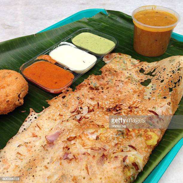 vegan diet - dosa stock photos and pictures