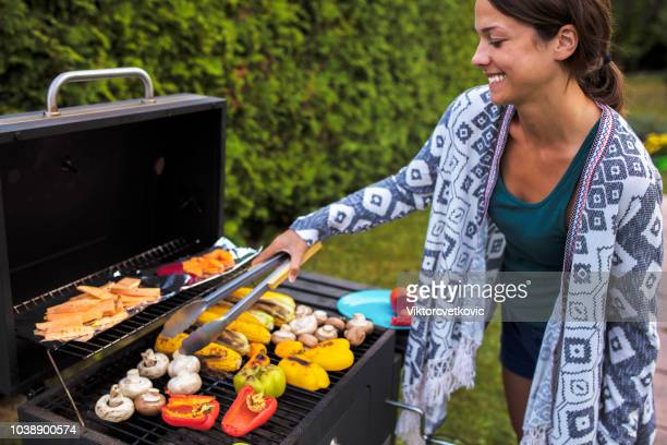 vegan health eating - barbeque - vegetarian food stock pictures, royalty-free photos & images