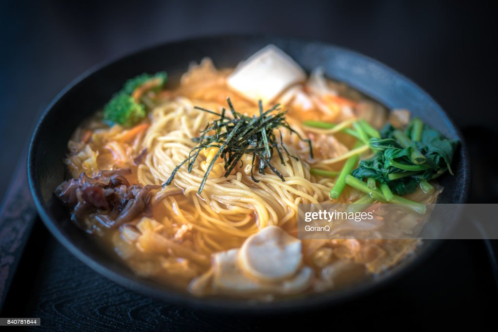 Vegan Kim Chi Ramen : Stock Photo
