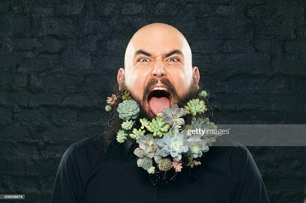 Vegan man : Stock Photo