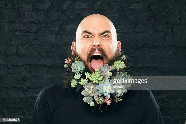 végétalien homme - jardinier humour photos et images de collection