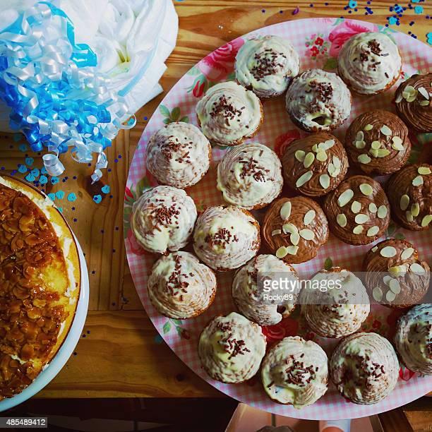 Vegane Muffins in einer Babyshower