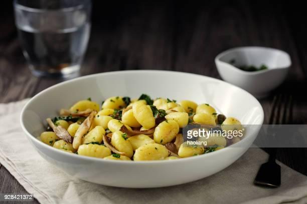 vegan mushroom gnocchi