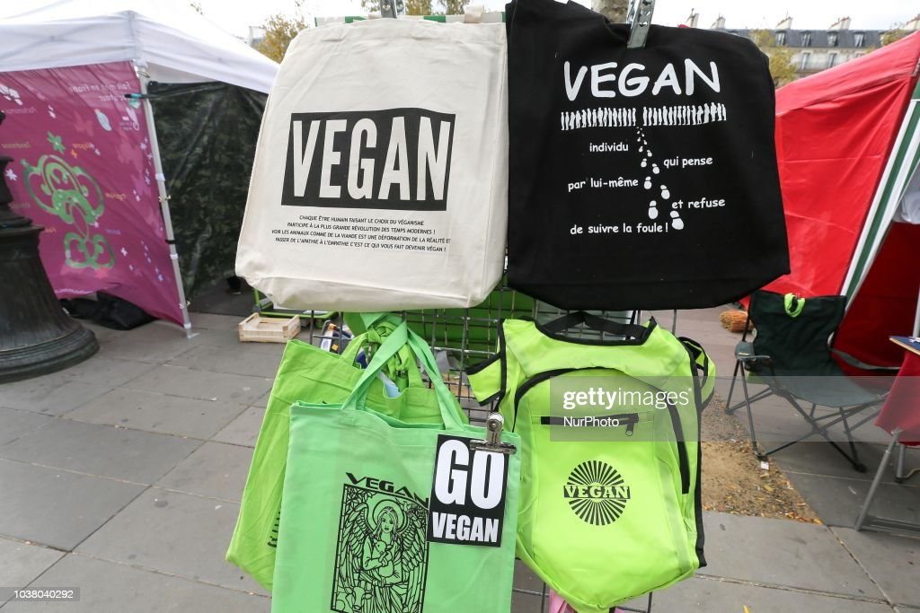 Vegetarian Activists Protest In France