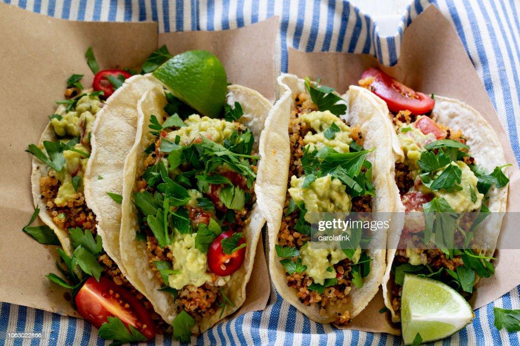 Vegan Quinoa Tacos : Stock Photo