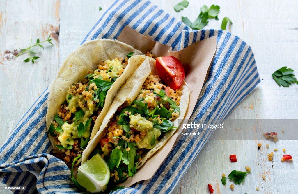 Vegan Quinoa Tacos : Stock-Foto