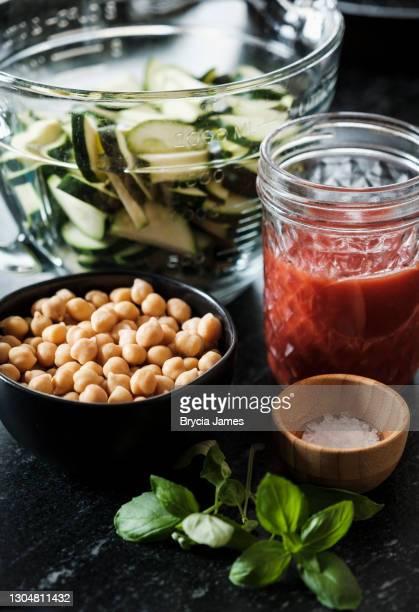 vegan recipe ingredients - brycia james stock pictures, royalty-free photos & images