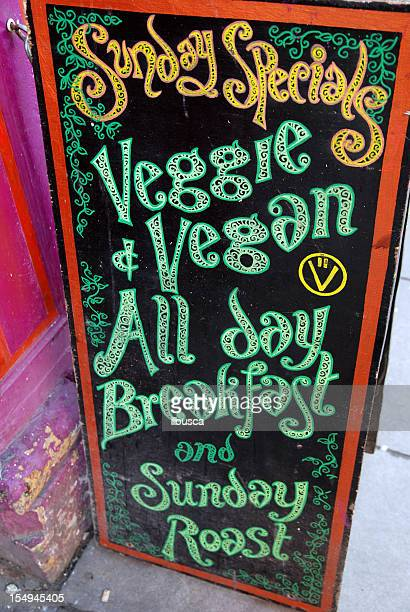 Vegan restaurant board