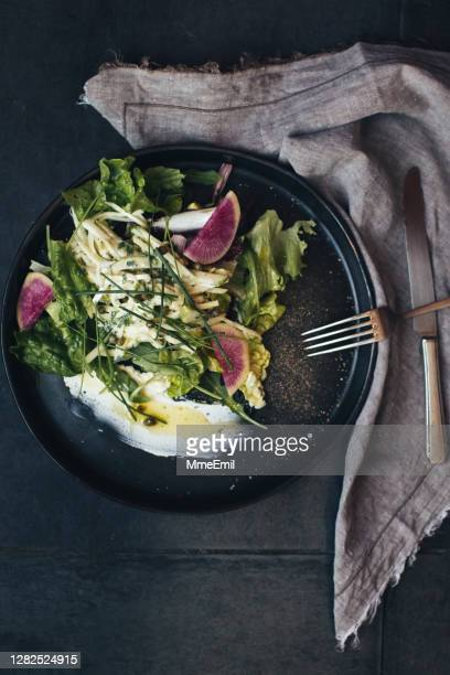 vegan salad - mmeemil stock pictures, royalty-free photos & images
