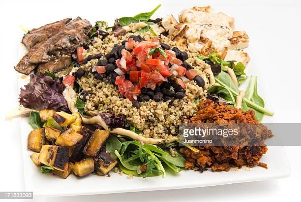vegan salad - chorizo stock pictures, royalty-free photos & images