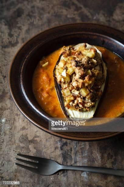 Vegan stiffed aubergine