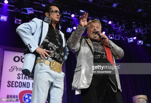 Vegas Elvis And Craig Wiseman Performs During The 13th Annual Stars For Second Harvest Benefit At