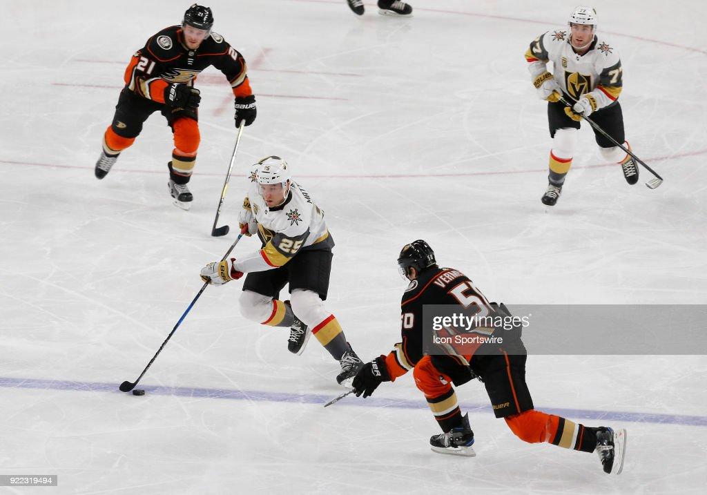 NHL: FEB 19 Ducks at Golden Knights : News Photo