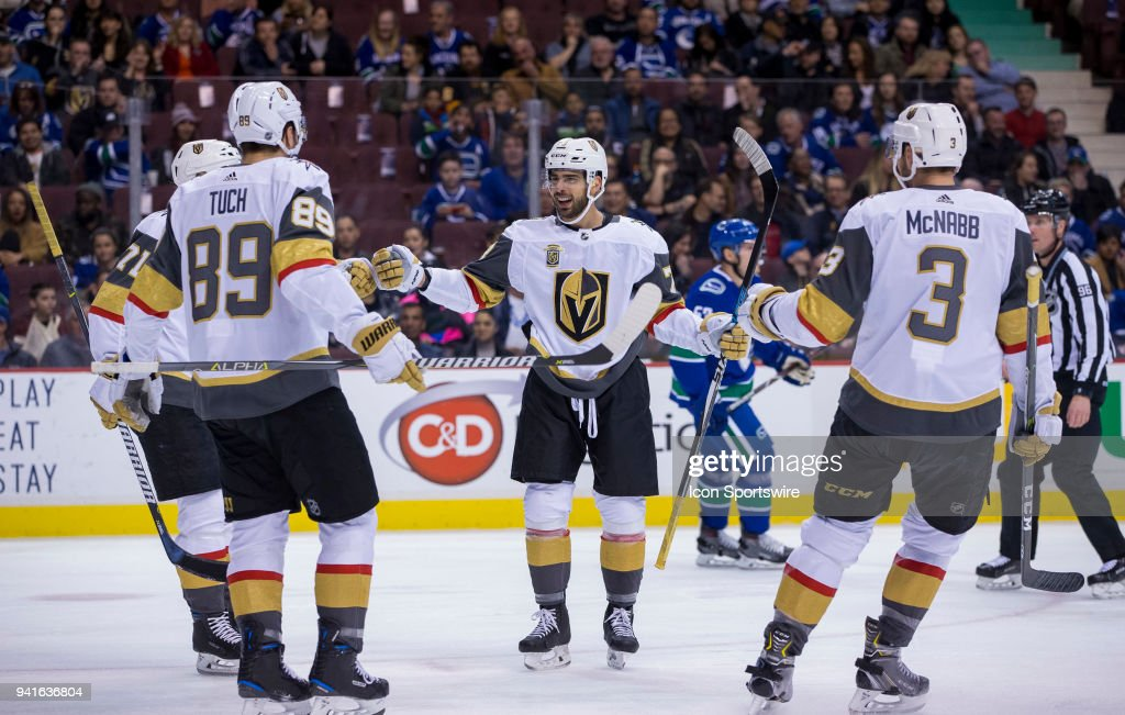 Vegas Golden Knights Center William Karlsson and Right Wing Alex ... a99c578af