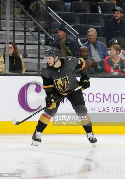 Vegas Golden Knights defenseman Colin Miller in action during a regular season game against the Minnesota Wild Monday Jan 21 at TMobile Arena in Las...