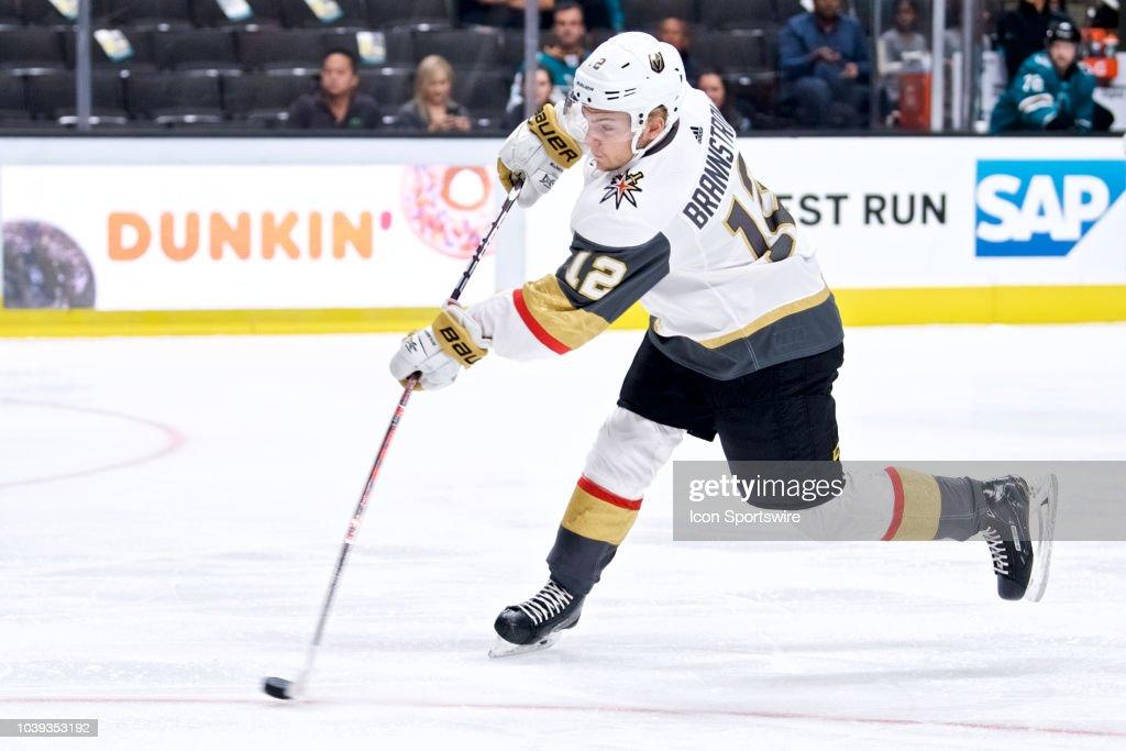NHL: SEP 22 Preseason - Golden Knights at Sharks : News Photo