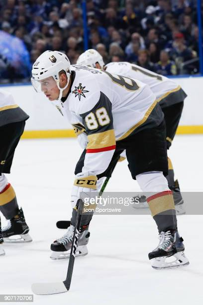 Vegas Golden Knights defenseman Nate Schmidt in the second period of the NHL game between the Vegas Golden Knights and Tampa Bay Lightning on January...