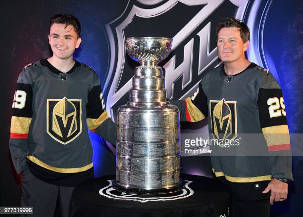 The Ted Lindsay Award displayed ahead of the 2018 NHL Awards at the Hard Rock Hotel Casino on June 17 2018 in Las Vegas Nevada The 2018 NHL Awards...