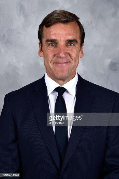 Vegas Golden Knights General Manager George McPhee poses for his official headshot for the 20172018 season on September 14 2017 at the City National...