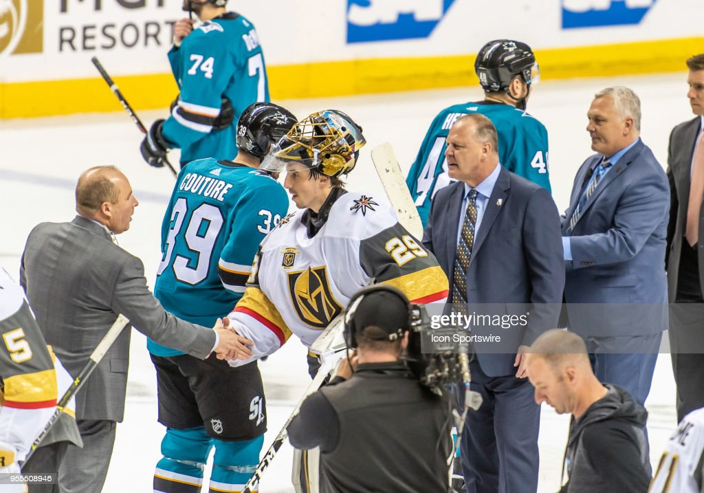 NHL: MAY 06 Stanley Cup Playoffs Second Round Game 6 - Golden Knights at Sharks : News Photo