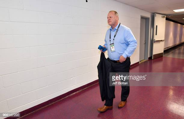 Vegas Golden Knights head coach Gerard Gallant arrives at the arena prior to Game Three of the Stanley Cup Final against the Washington Capitals...