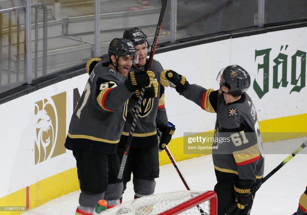 NHL: MAR 29 Wild at Golden Knights : News Photo