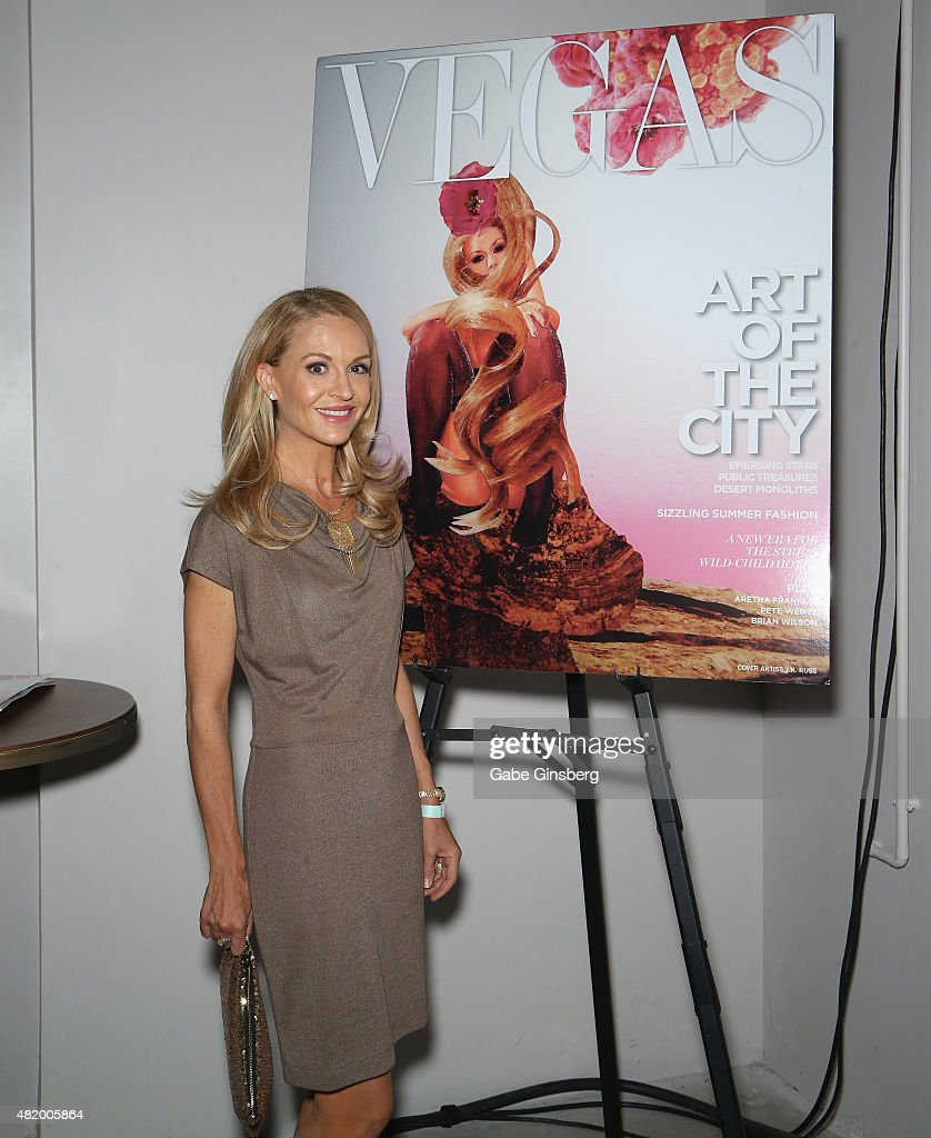 Vegas Magazine Editor-in-Chief Andrea Bennett attends Vegas Magazine's 'Art Of The City' issue celebration with artist J.K. Russ at The Cosmopolitan of Las Vegas on July 25, 2015 in Las Vegas, Nevada.