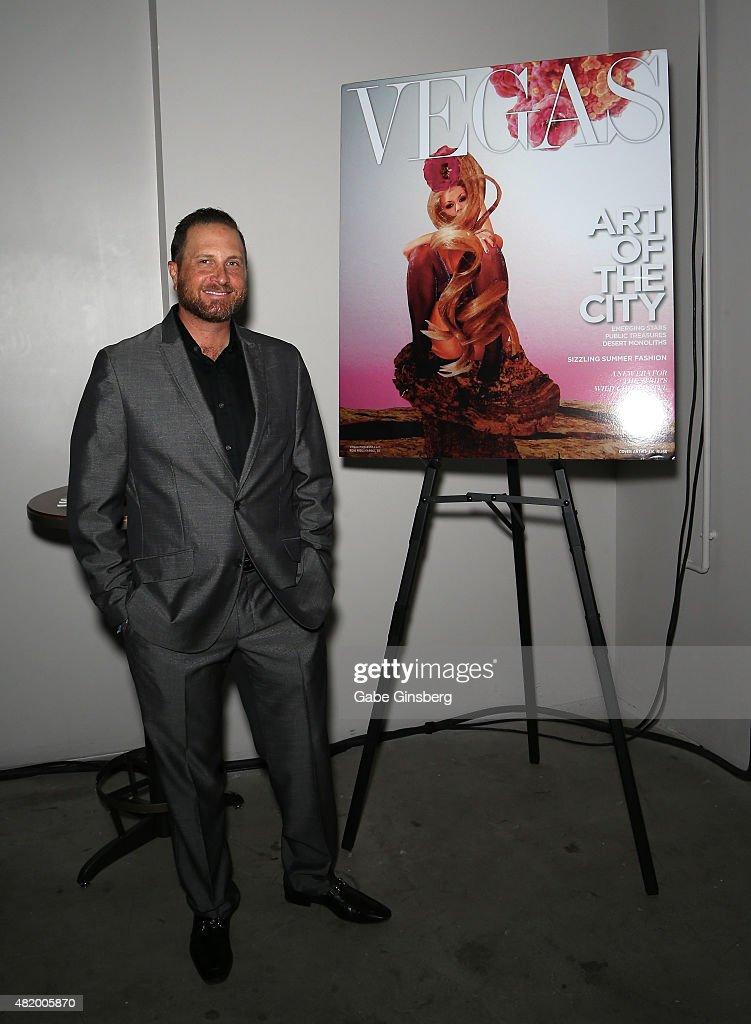 Vegas Magazine publisher Josef Vann attends Vegas Magazine's 'Art Of The City' issue celebration with artist J.K. Russ at The Cosmopolitan of Las Vegas on July 25, 2015 in Las Vegas, Nevada.