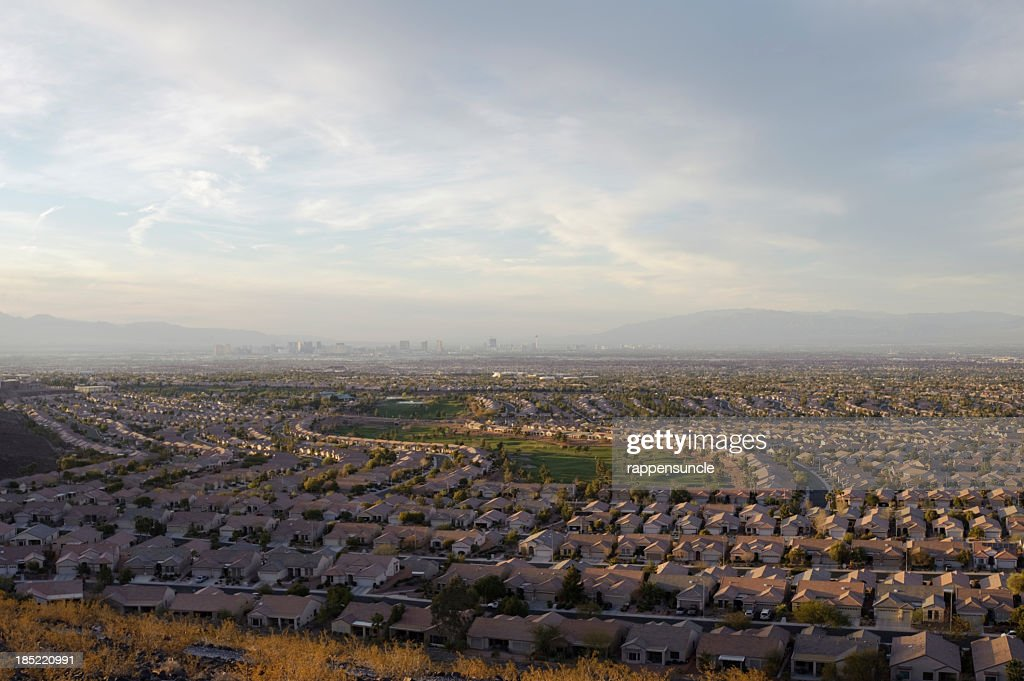 vegas valley, wide angle : Stock Photo