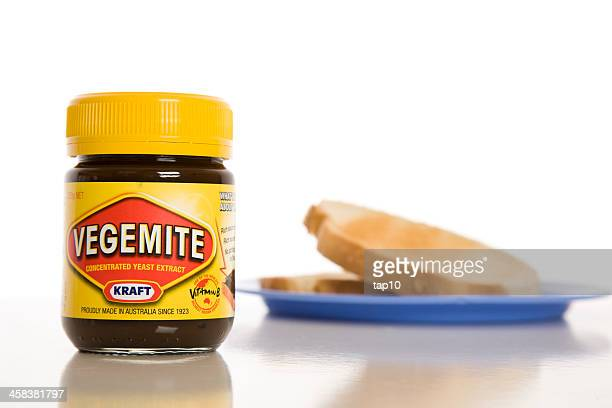 vegemite and toast - kraft foods stock photos and pictures