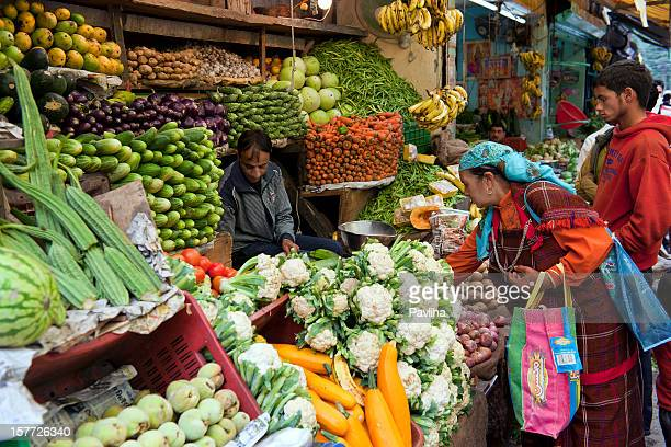 Vegetable and Fruit Market in Manali India
