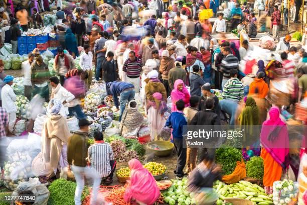 Vegetable & fruit market. Udaipur. Rajasthan. India.
