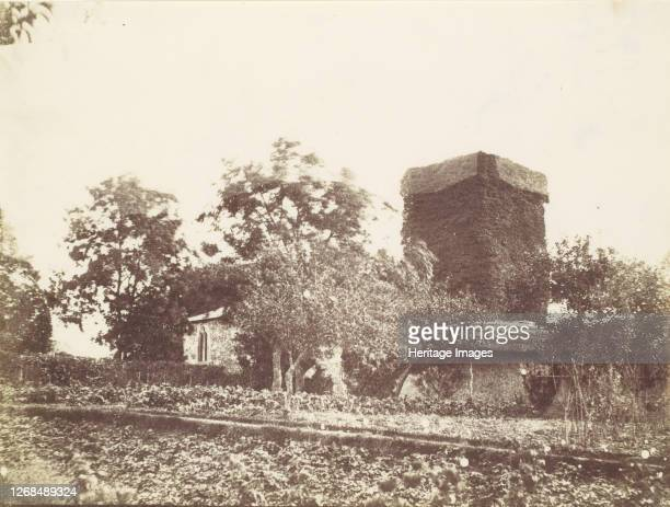 Vegetable Garden and Ivy Covered Tower, 1850s. Artist Unknown.
